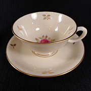 "Lenox ""Rhodora"" Cup and Saucer Set 1939-82 (2 sets available)"