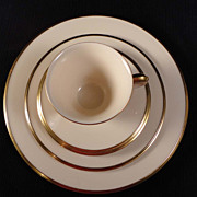 "Lenox China ""Eternal"" 5-piece Place Setting"