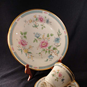 "Lenox China ""Morning Blossom"" Dinner Plate and Cup/Saucer Set"