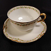 Haviland Clover Leaf #98 Cup and Saucer (10 available)