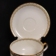 "Haviland-Limoges ""Albany"" Flat Cup/Saucer Set (7 available)"