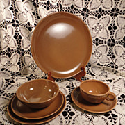 Russel Wright 6-Pc. Place Setting in Nutmeg Brown (2 available)