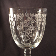 "Fostoria ""Manor"" Goblet, #6003 Stem, #286 Etch (6 available)"