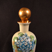 Forget-Me-Not Stoppered Cologne or Bath Oil Bottle
