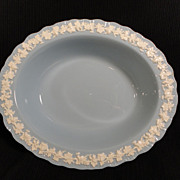 Wedgwood's Embossed Queen's Ware Oval Serving Bowl