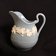 Wedgwood Embossed Queen's Ware Ivory on Lavender Creamer