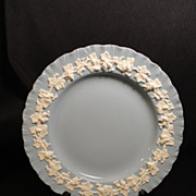 Wedgwood Queen's Ware Embossed Ivory on Lavender Salad Plates (8 available)