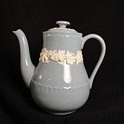 Wedgwood Queen's Ware Embossed Cream on Lavender Tea Pot