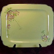SALE Homer Laughlin's Briar Rose Oblong Platter, 1930s
