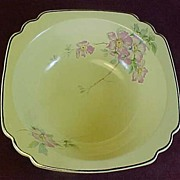 "SALE Homer Laughlin's Briar Rose 8"" Square Veggie or Berry Bowl"
