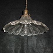 Holophane Pendant Light Fixture - Zipper Glass Shade