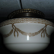 Decorated Schoolhouse Ceiling Light Fixture