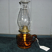 Amber Glass Kerosene Oil Finger Lamp