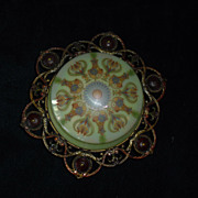 Lightolier Decorated Flush Mount Ceiling Light Fixture