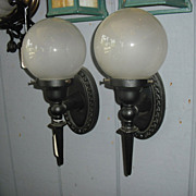 Arts & Crafts Iron Porch Lights