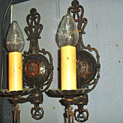 Tudor Cast Bronze Wall Sconces - Original Finish