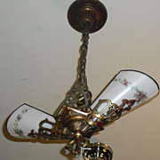 2 Light Lincoln Art Deco Hall Chandelier