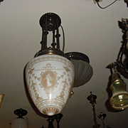 Neoclassical Entry Hall Pendant Light