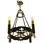 Spanish Revival 4 Light Chandelier
