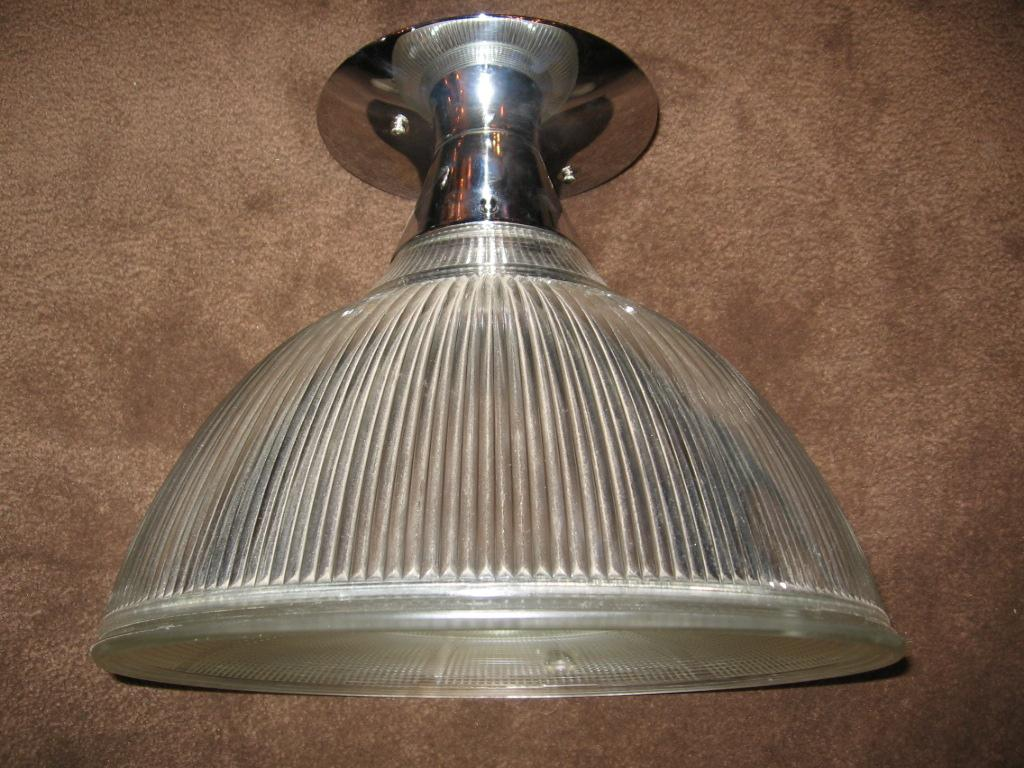 Large Holophane Ceiling Light Fixture
