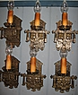 Tudor Cast Brass Wall Sconces - 6 available