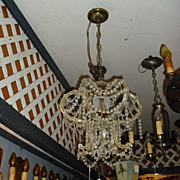 Petite 3 Light Inverted Crystal Chandelier