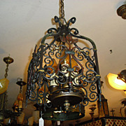 Spanish Revival 3 Light Entryway Chandelier
