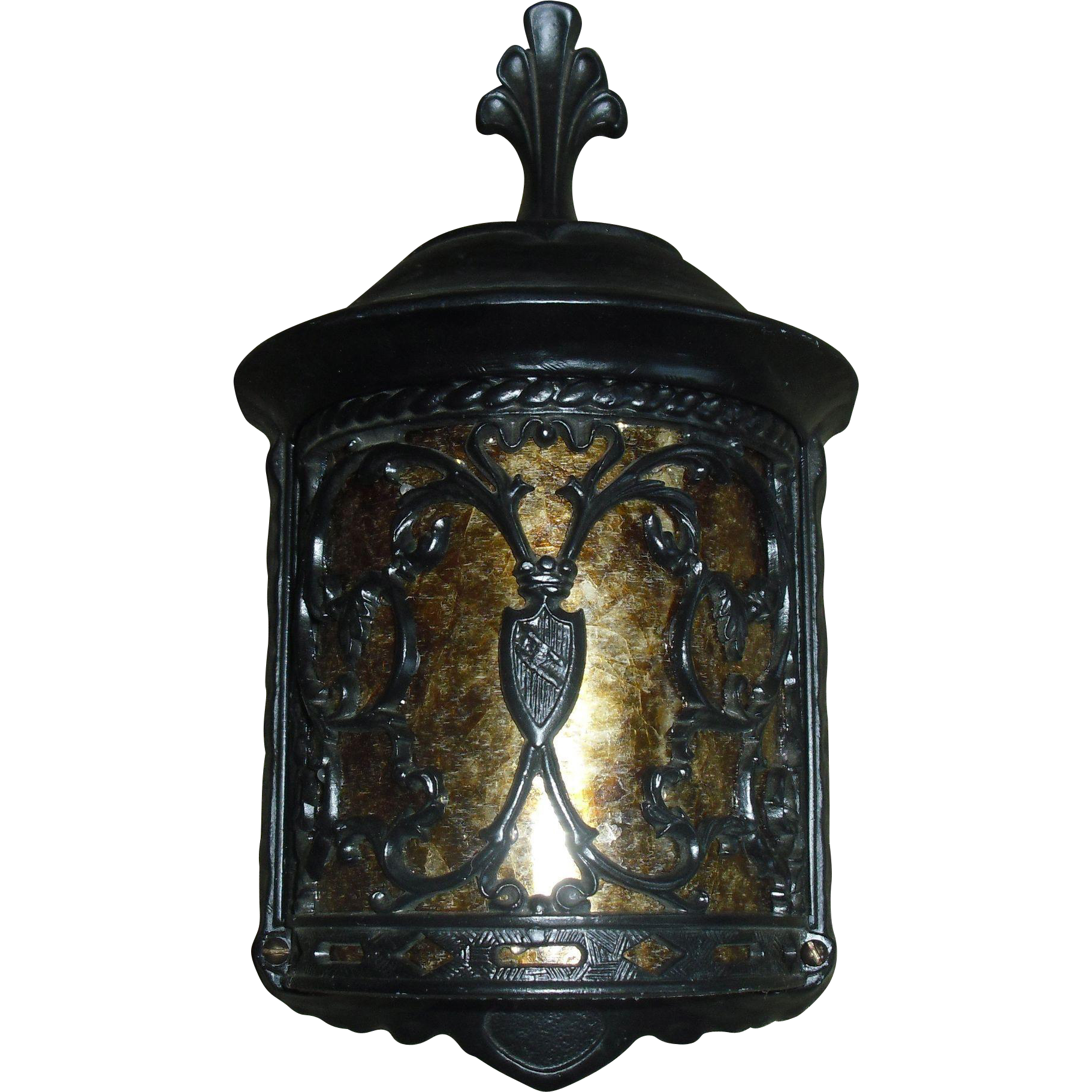 Spanish Revival Porch Light Fixtures with Mica Panels - 4 available