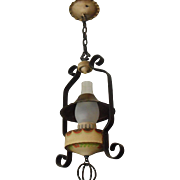 2 Monterey Style Iron Lantern Pendant Light - 2 available