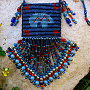 Loomed Heartline Bear Amulet Bag