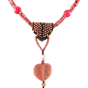 Heart Seed Bead Necklace