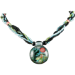 "Blue, Pink and Green Encased ""Scene"" Necklace"
