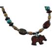 Raku Bear Beaded Necklace