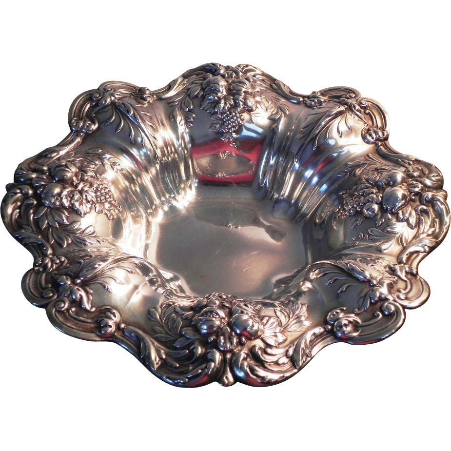 Large reed barton francis i sterling silver footed for Jewelry arts prairie village