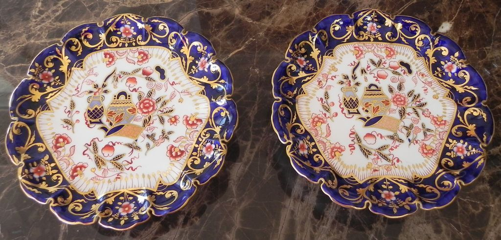 Pair antique copeland spode imari footed compotes from for Jewelry arts prairie village