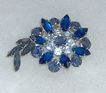 Beautiful Blue Rhinestone Brooch