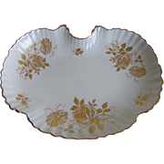SALE Dish with Golden Roses - Old Foley