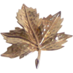 Golden-tone Maple Leaf Brooch