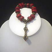 SOLD Dorje and Sherpa Coral Bracelet
