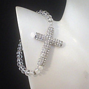 Crystal Cross and Swarovski Bracelet