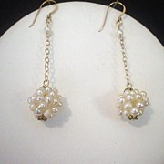 Freshwater Pearl Cluster and 14kt Gold Fill Earrings