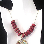 Tibetan Sherpa Coral and Turquoise Chain Necklace
