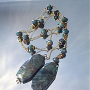 Fancy Jasper Lariat Necklace