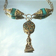 Kwan Yin and Tibetan Turquoise Necklace