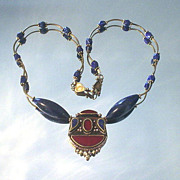 Tibetan Lapis Lazulli with Coral Necklace