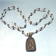 Buddha Silver and Brass Necklace