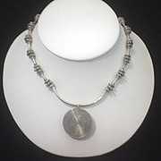 Sterling Silver and Pewter Necklace