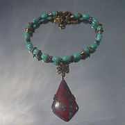 Mexican Jasper and Turquoise Necklace