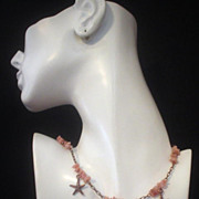 Starfish and Peruvian Opal Copper Necklace