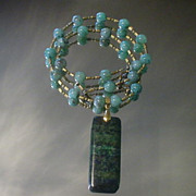 Lapis Chrysocolla and Cuprite Necklace